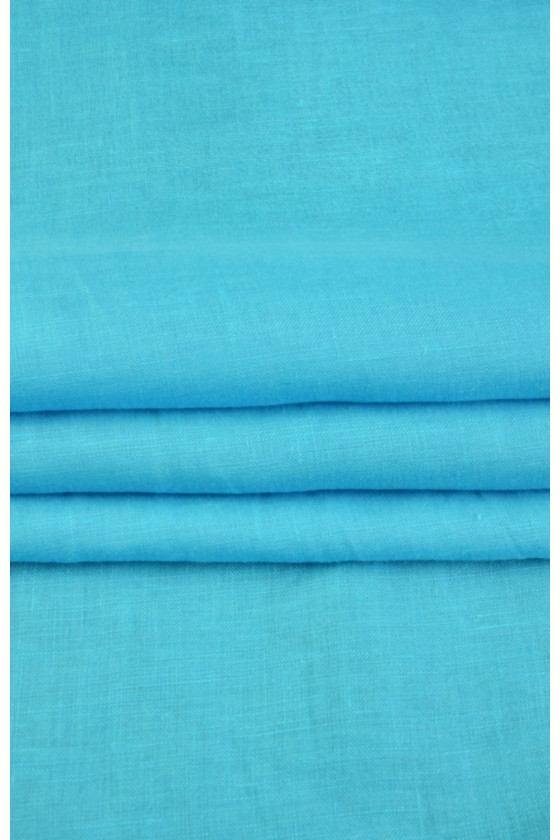 Natural turquoise flax
