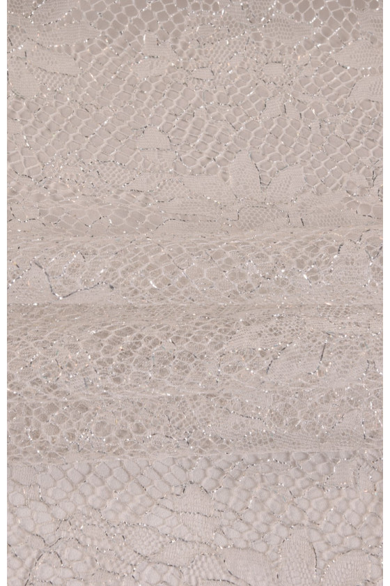 Lace with lurex narrow