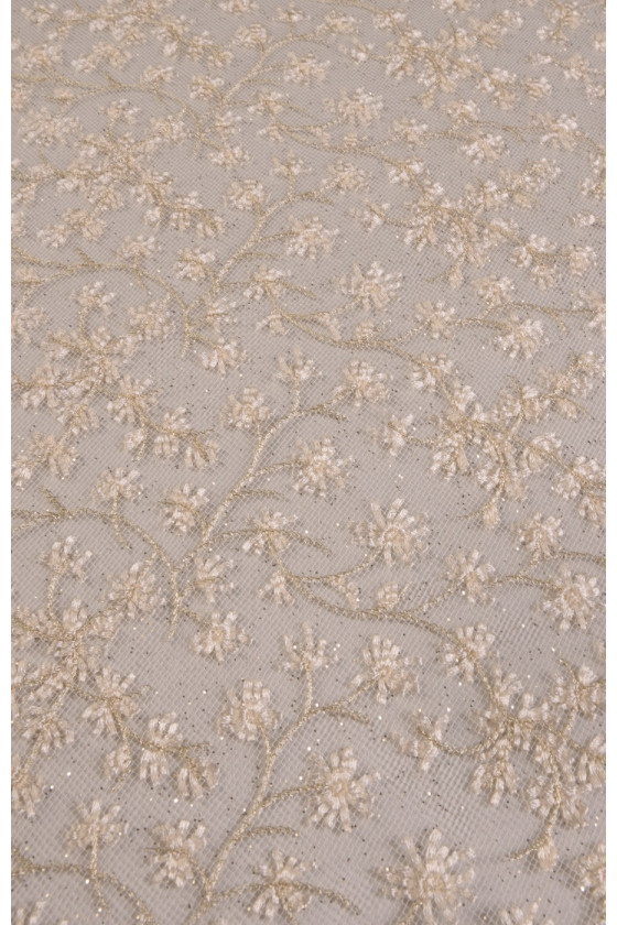 Lace with gold thread and...