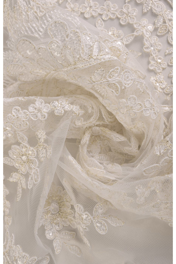 Lace with lurex coupon