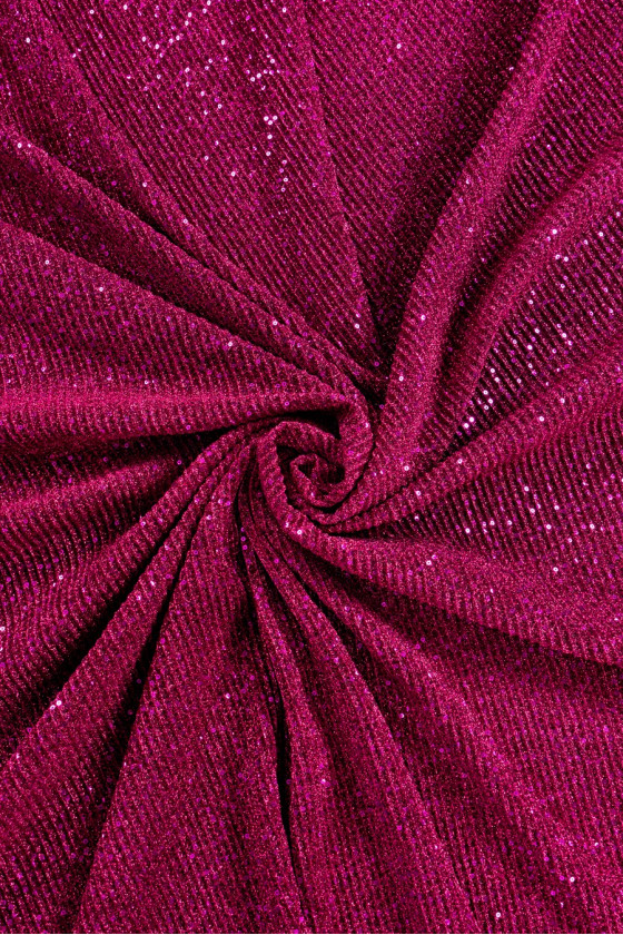Knitted with lurex and sequins amaranth