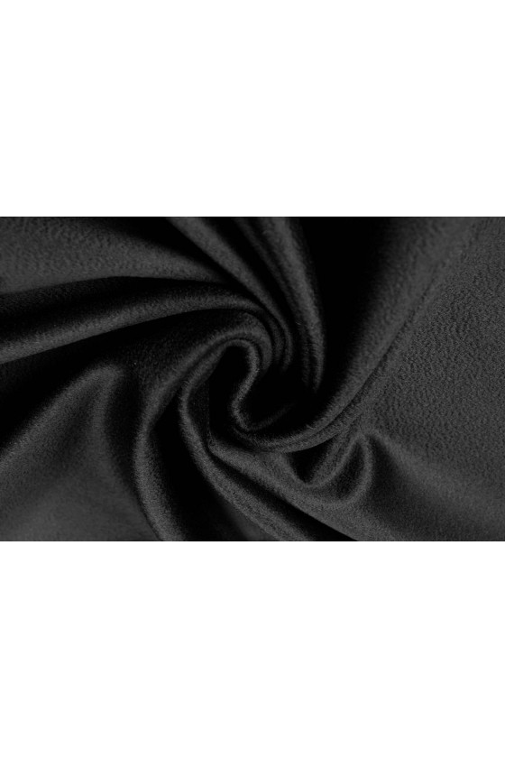Coat fabric wool with black cashmere