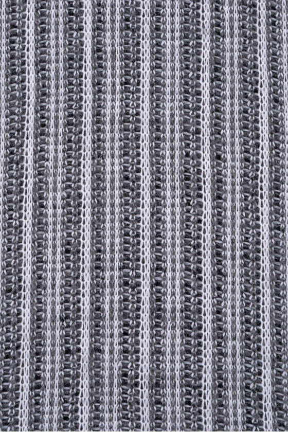 Knitted sweater white and gray