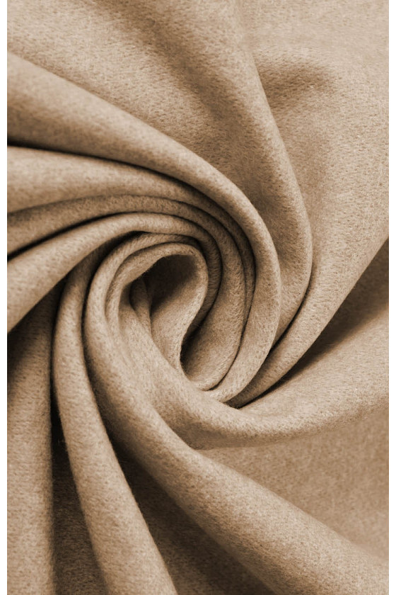 Coat fabric wool with cashmere beige