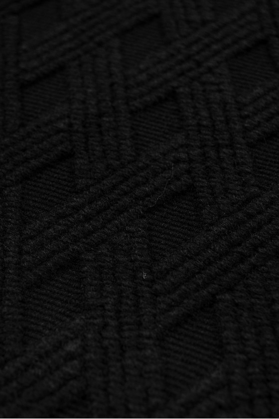 Black wool for cardigans