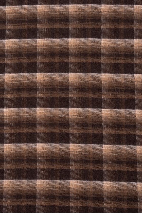Brown-beige checkered fabric