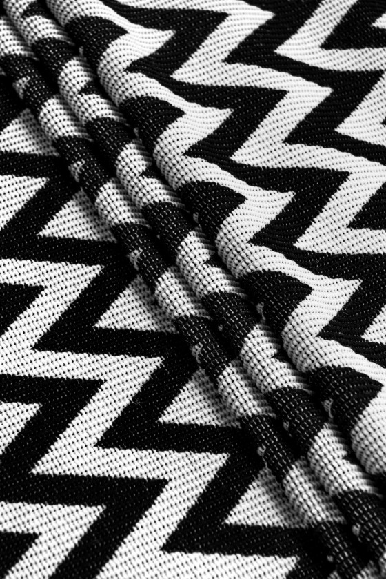 Wool fabric in zigzags