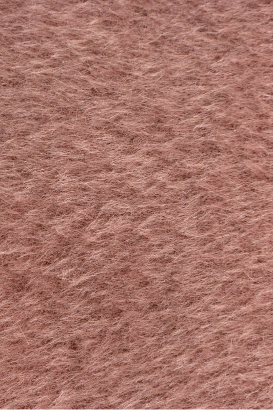 Alpaca coat fabric with wool dirty pink