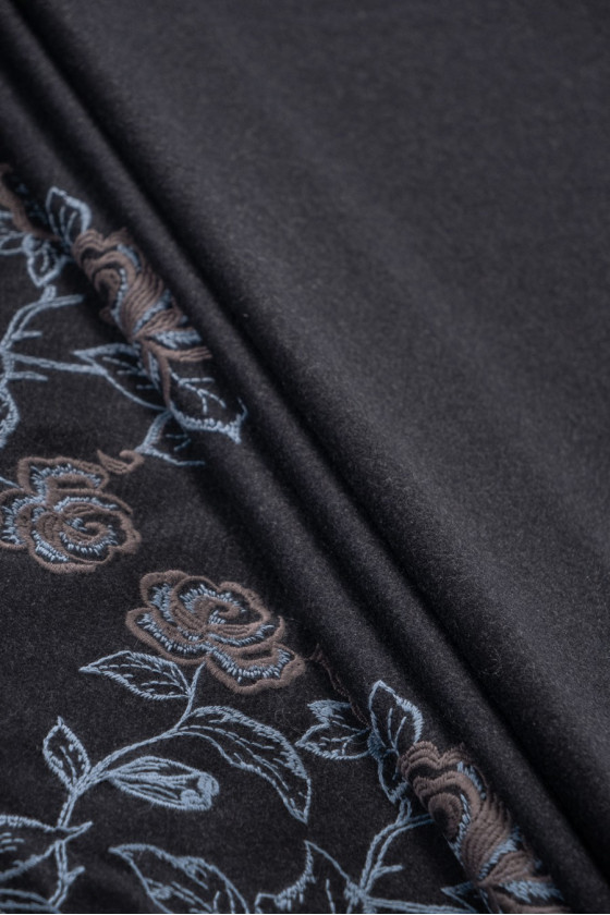 Graphite coat wool with...