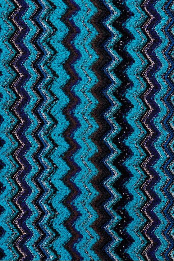 Knitted zigzags sweater