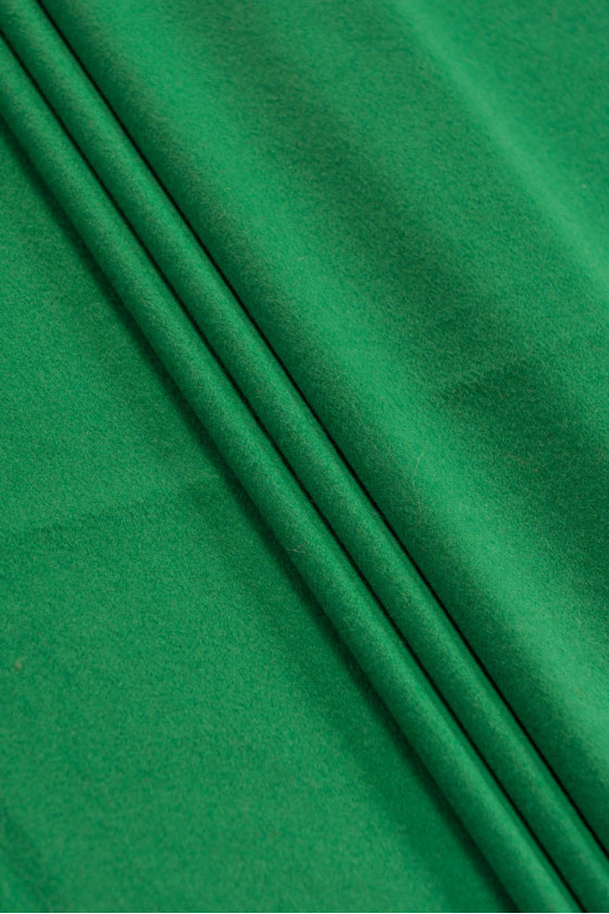 Coat fabric wool with green...