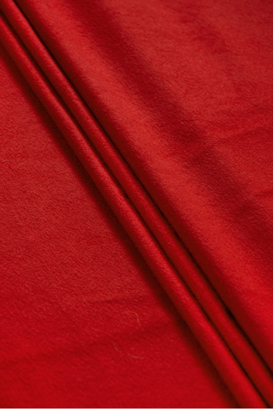 Red wool jacket fabric