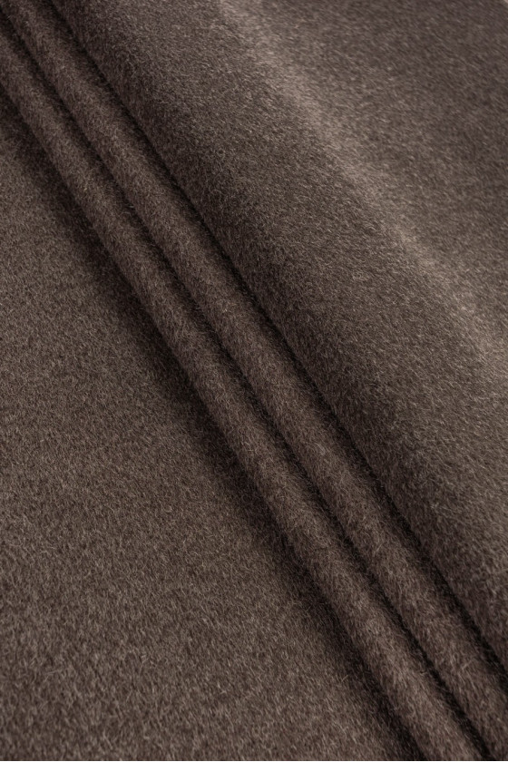 Coat fabric wool with brown...