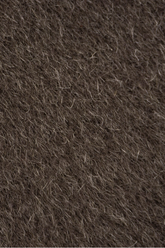 Coat fabric wool with brown cashmere