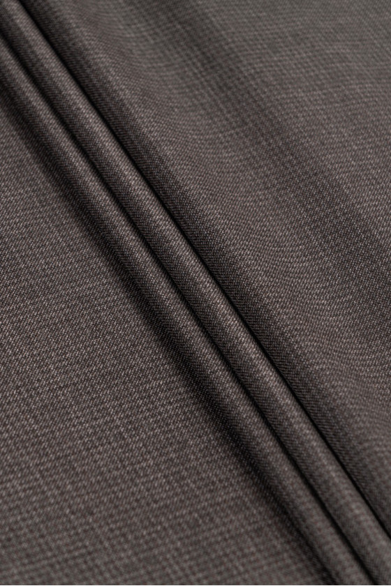 Checkered wool brown/grey