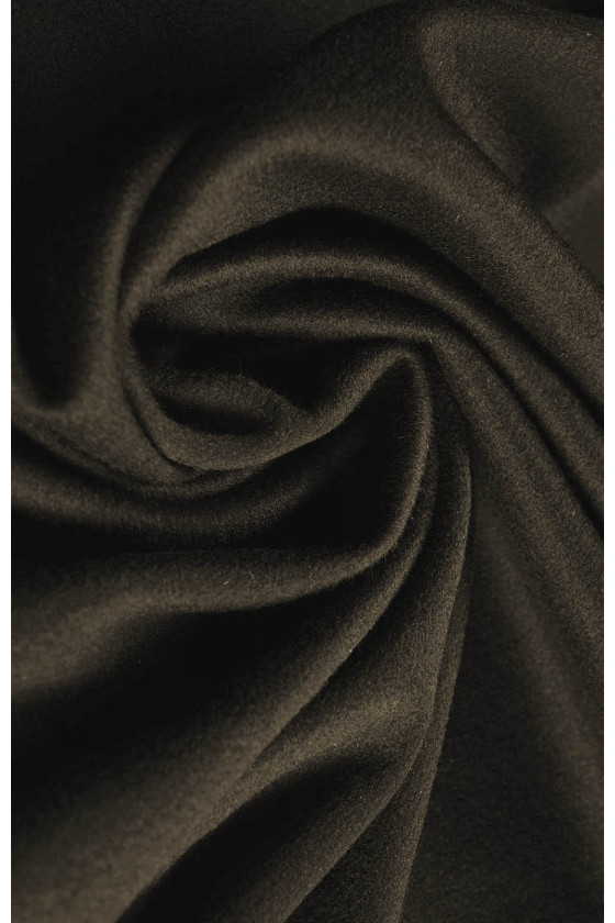 Coat fabric wool with cashmere brown/khaki