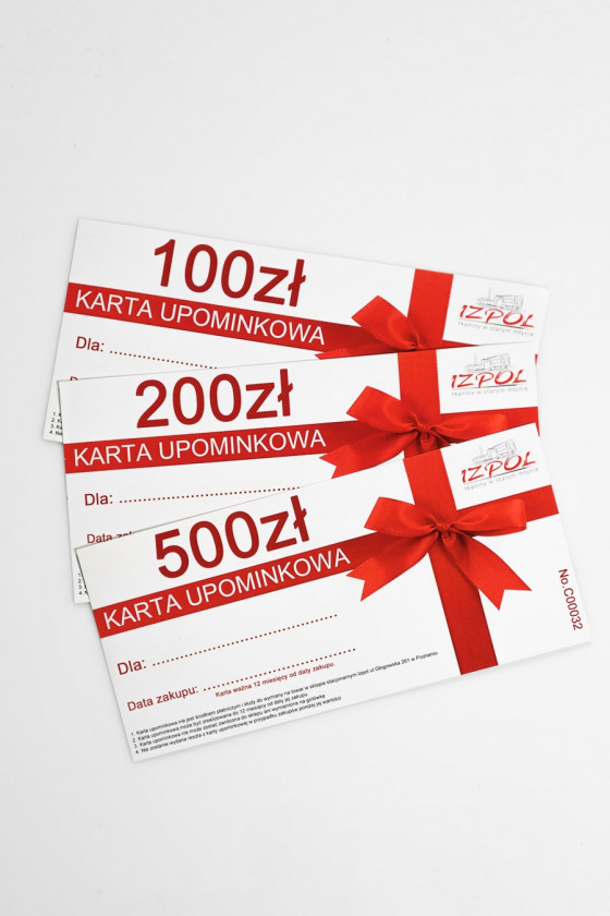 Gift card ONLINE 100 200...