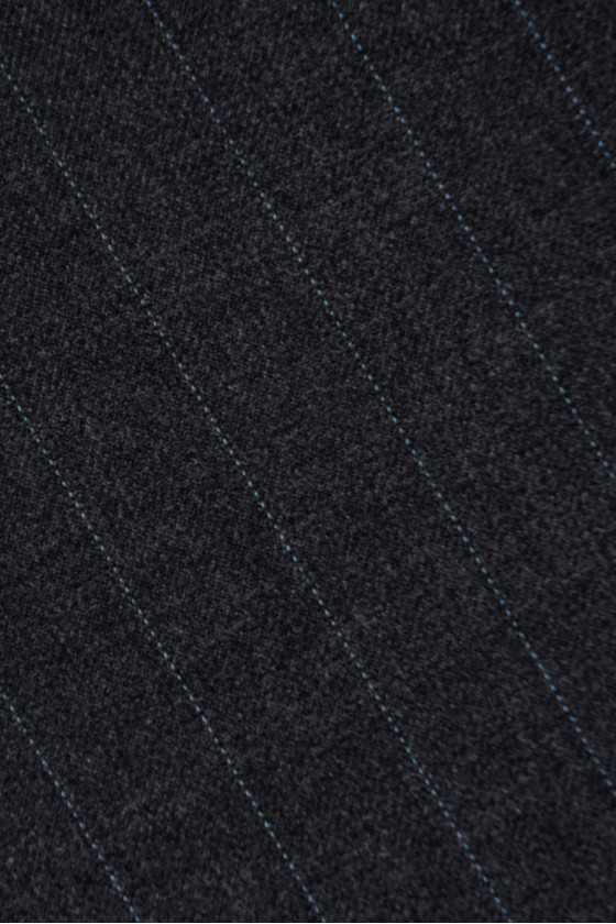 Graphite costume wool with rib bed