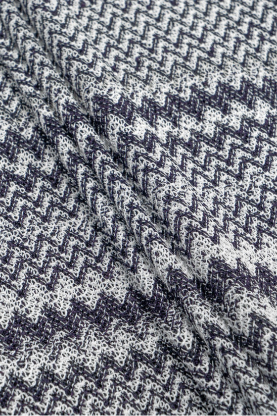 Knitted sweater white and...