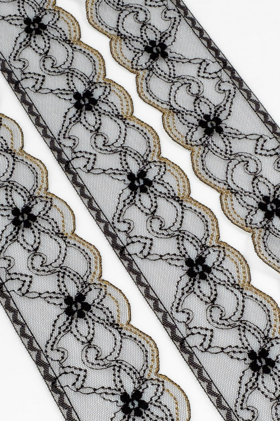 Black and gold lace tape