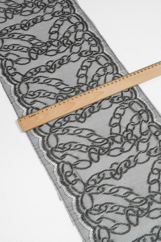 Grey-silver lace tape