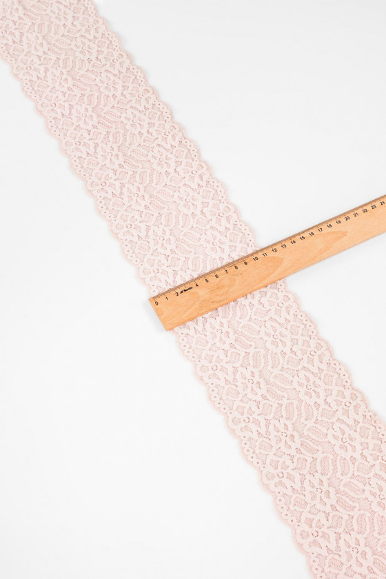 Powdered pink lace tape