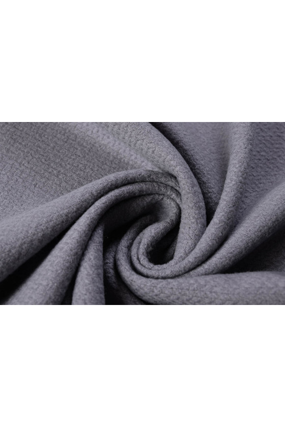Wool fabric with texture