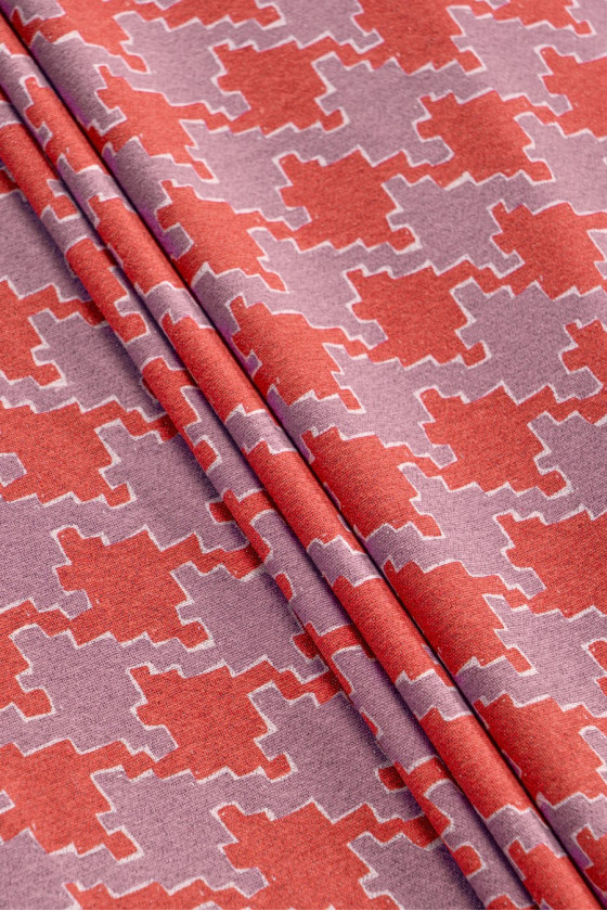 Cotton woven on linen with...