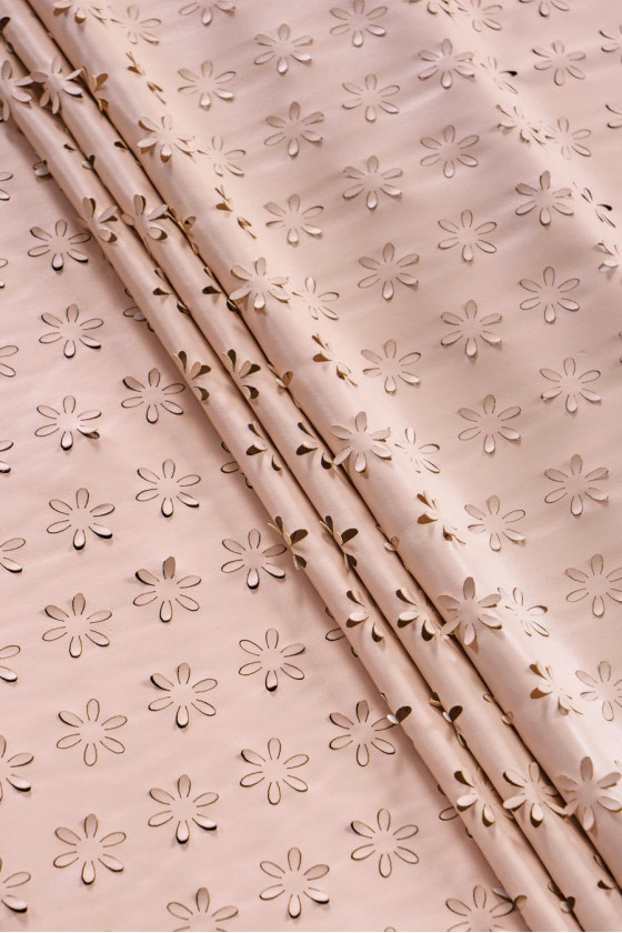 Eco leather laser-cut flowers