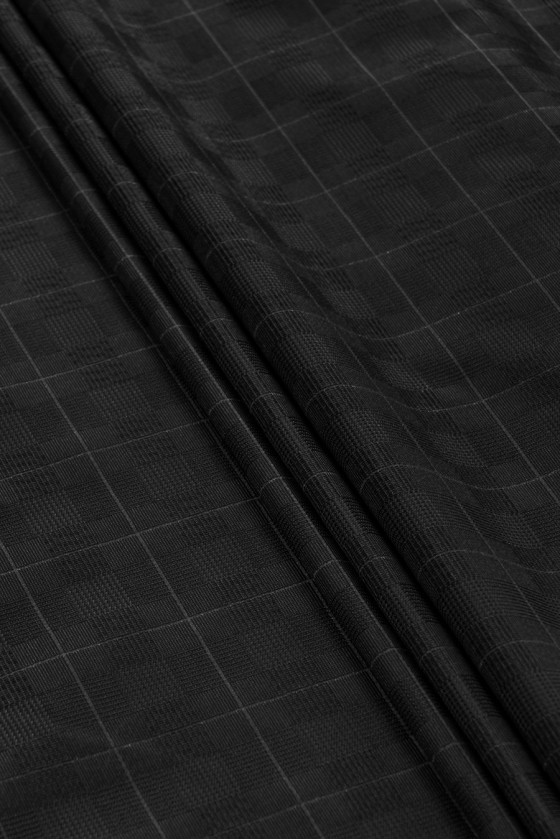 Black wool with lurex and...