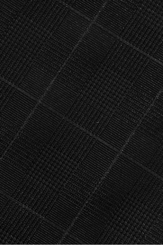 Black wool with lurex and texture