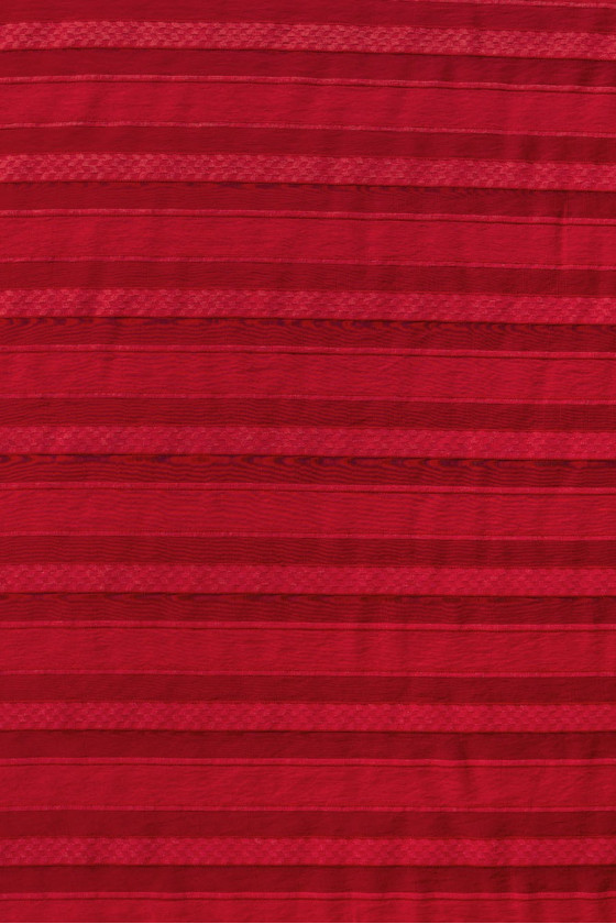 Organza in red stripes