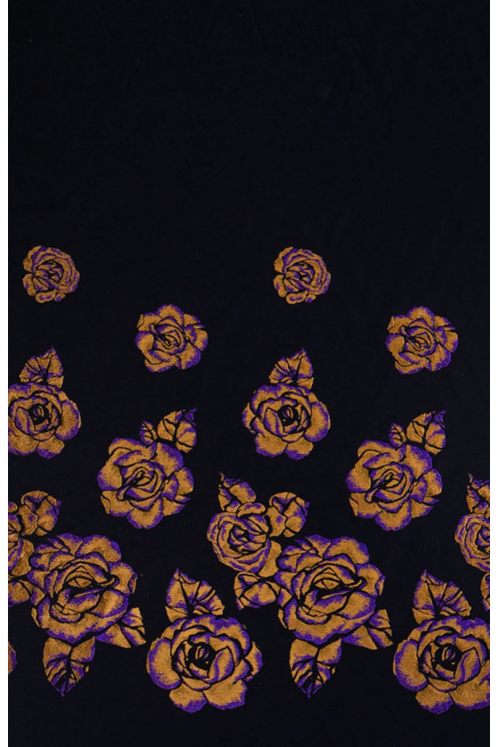 Black jacquard with flowers coupon