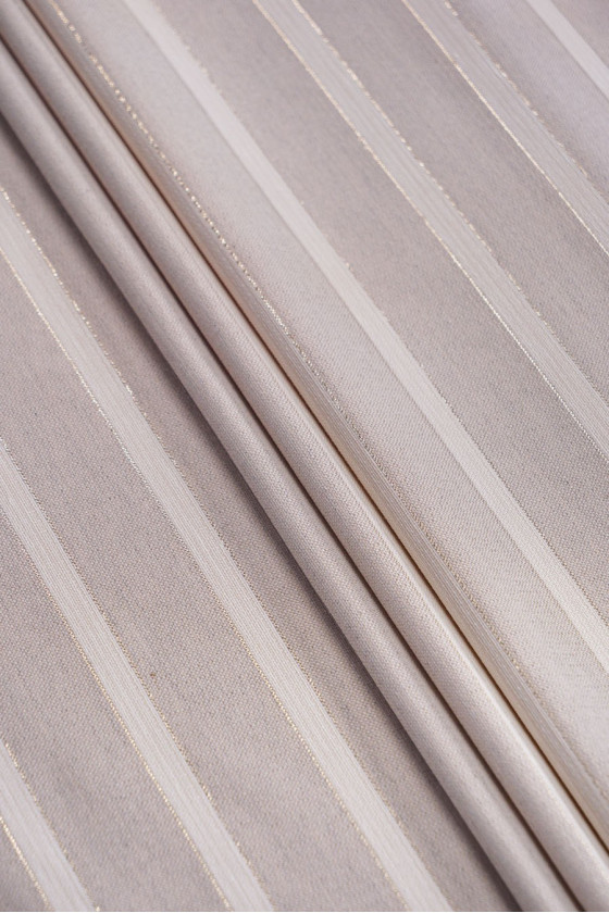 Striped linen jacquard with...