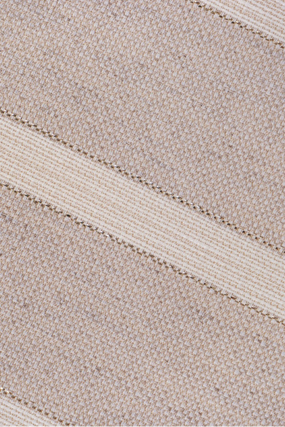 Striped linen jacquard with golden thread
