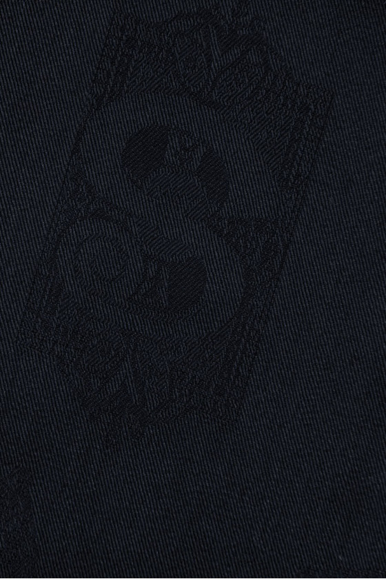 Cotton ala jeans navy blue in letters