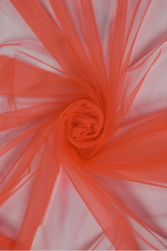 Soft coral tulle...