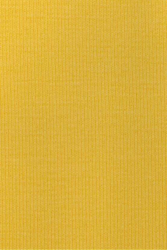 Knitted cotton yellow