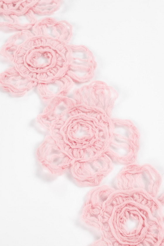 Wool flower pink large appasly