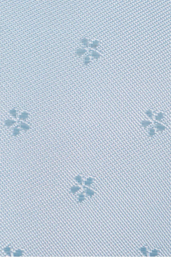 Jacquard lining in blue flowers