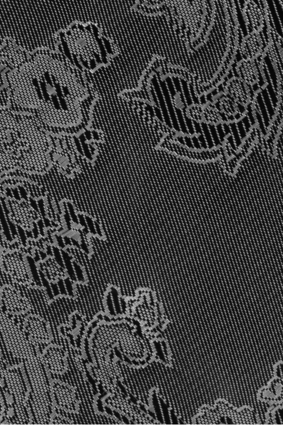 Jacquard lining twoton black and silver