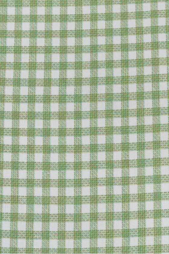 Chanel fabric white and green plaid