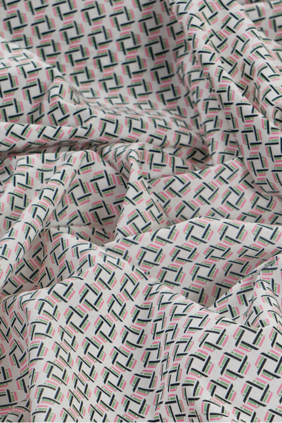 Shirt cotton in colorful pattern