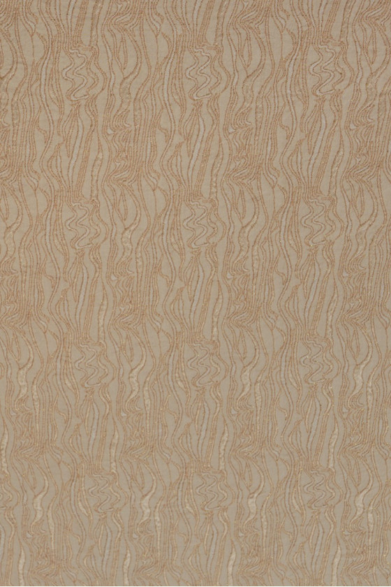 Jacquard fabric - beige with gold thread