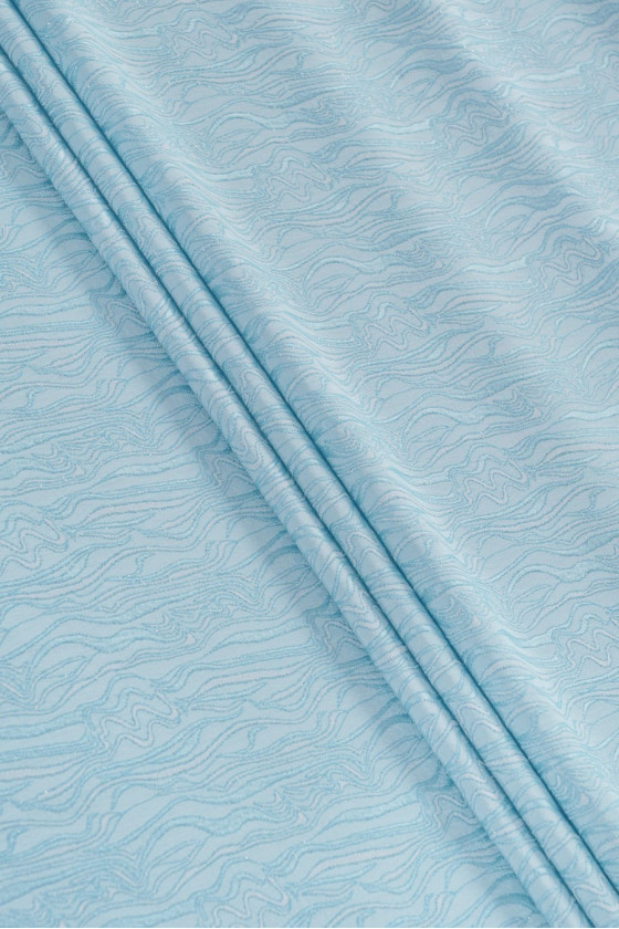 Jacquard fabric - blue with...