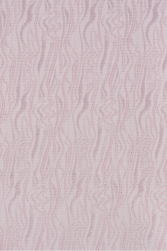 Jacquard fabric - pink with silver thread