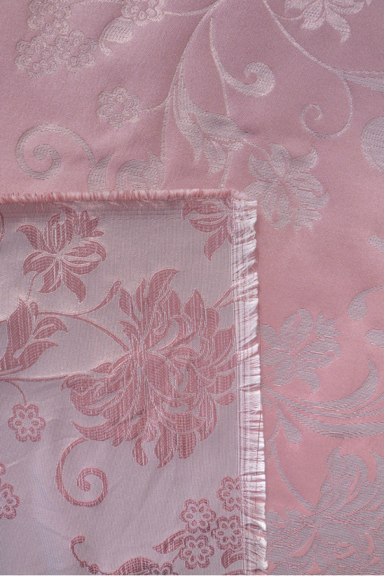 Jacquard fabric - pink in flowers