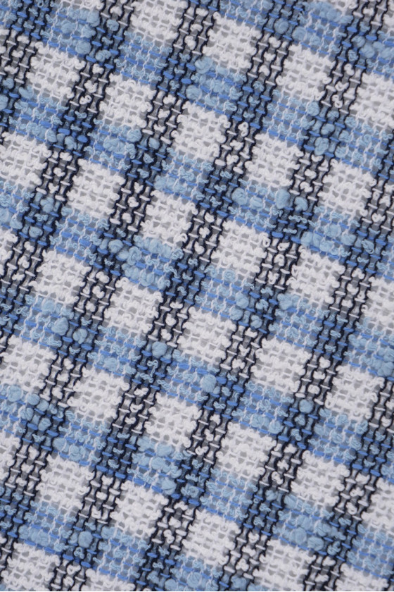 Chanel fabric grille white-blue