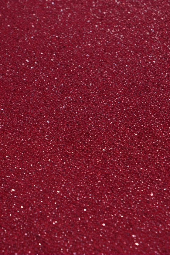 Evening fabric with beads - red