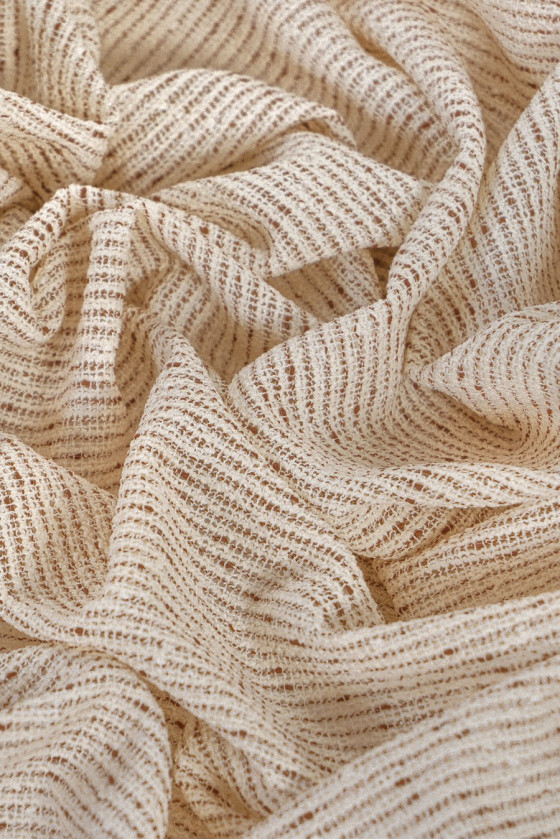 Chanel fabric - beige with brown